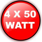 4X50 WATT