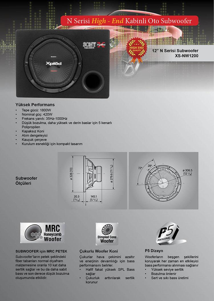 sony_nw1200kabinli oto subwoofer bass