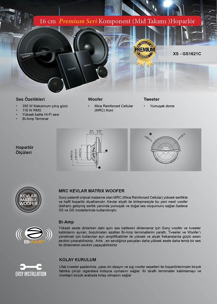 sony_xs-gs1621c oto hoparlör ve mid takımı