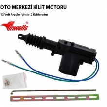 Merkezi Kilit Motoru Tek Motor 2 Kablo 12 VOLT ( Arka - Bagaj )