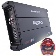 Pilippo PO-1090 Mono 1000 Watt Oto Bas Anfisi + Kablo seti