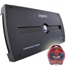 Pilippo po-930 4 Kanal 4x375 Watt Oto Amplifikatör + Kablo seti