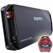 Pilippo PO-950 Mono 1000 WATT Oto Bas Anfisi + Kablo Seti