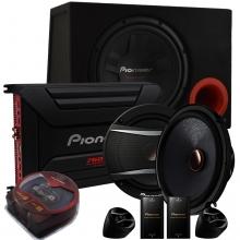 Pioneer 1400 Watt Ses Sistemi Seti Bass + Amfi + Mid Hoparlör + Kablo Seti