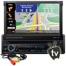 Techlink TE-7600 Navigasyon DVD TV USB İndash Oto Teyp Bluetooth + Kamera
